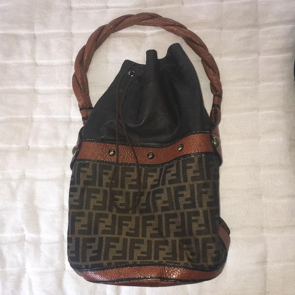 b71ec599fd Fendi Handbags - Fendi Zucca Palazzo Bucket Bag